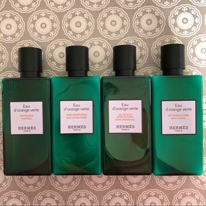 Deluxe Travel Size 4-Piece Bath Kit from Hermès